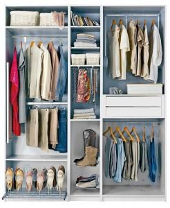 espacio en el armario