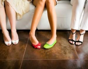 Mismatched shoes